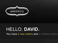 uberclothing dashboard