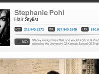 Talent Database - Profile Page (Client Choice)