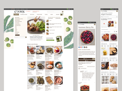 Cook's Illustrated Website Redesign