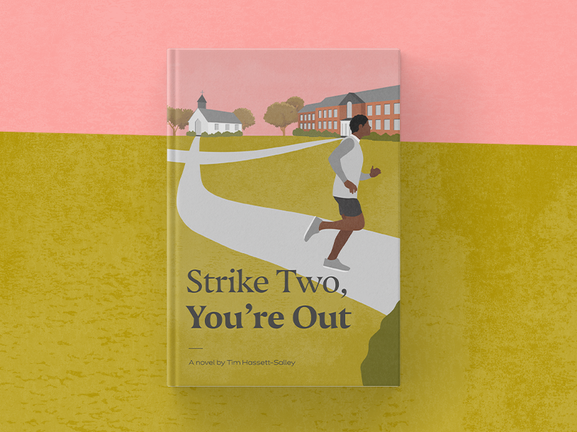 Strike Two, You're Out novel visual design illustration design book cover book cover design