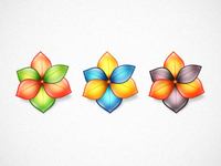 3 Flower Icons