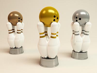 3 Bowling Awards 3d bowling award price bronze silver gold
