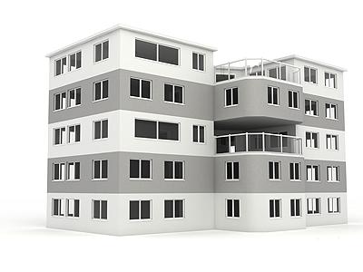 Business Building 3d render house architecture