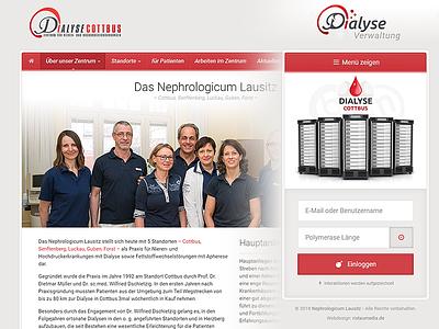 Dialyse Cottbus health boxed responsive webdesign dialyse