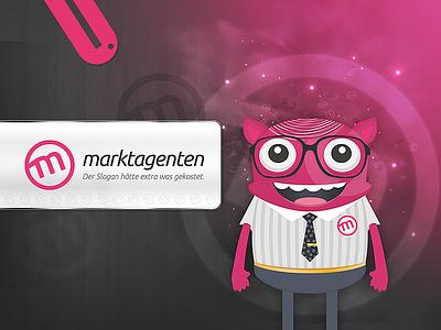 Die marktagenten kommen! slurp figure desktop mamen logo illustration presentation marktagenten