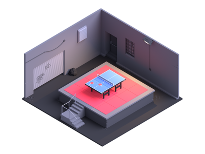 Blog Post: Design Ping Pong table tennis low poly alley pong ping ping pong