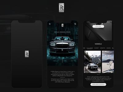 Rolls Royce app concept application design car design cars rolls royce app app design design ui ux ux design user design uiux ui design user experience