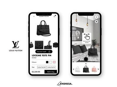 Louis Vuitton App AR concept application design louis vuitton louis vuitton app app app design ux design ux user experience user design uiux ui design ui
