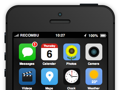 iPhone 5S & iOS 7 concept made from CSS css iphone 5s ios7 html