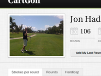 CartGolf UI - Profile Page