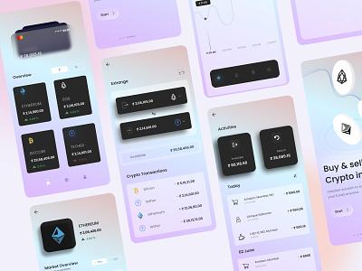 Crypto iOS App bitcoin clean ios currency cards minimal money crypto