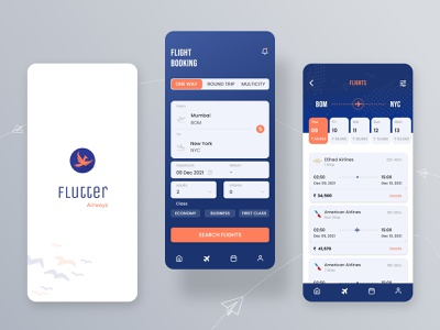 Flutter - Flight Booking Application place ticket clean flight booking seat mobile ios minimal travel