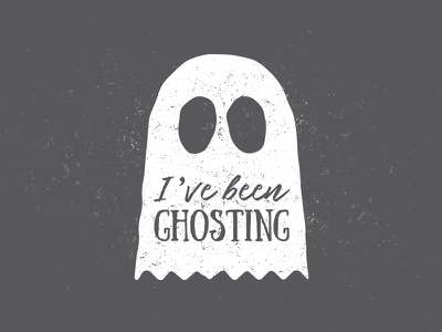Ghosting script typography ghosting ghost icon
