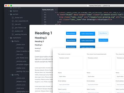 Pinch – BEM Design waiting list typography subtle shadow panel input form development code bold bem