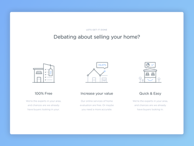 Quick tour of the house ux ui search page landing interface illustration home hero