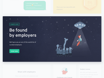 Be Found! with rep. ufo calibre interface ux ui dashboard illustration website landing page lp