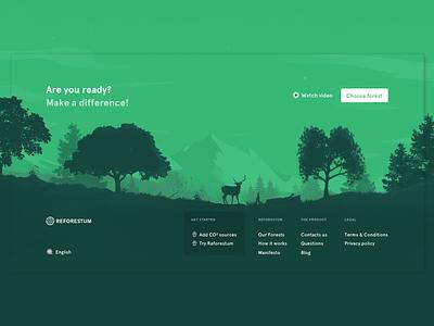 Reforestum footer! desktop ux ui forest illustration interface significa reforestum footer