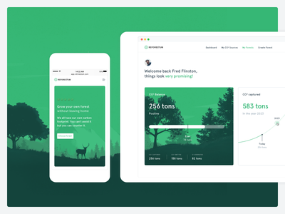 Reforestum Web App! dashboard mobile forest green significa web app ui ux