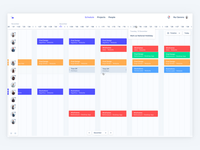 Team Management App significa cards productivity calendar schedule kanbam float app desktop ui