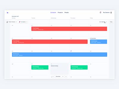 Optional Calendar view ui desktop app float kanbam schedule calendar productivity cards significa
