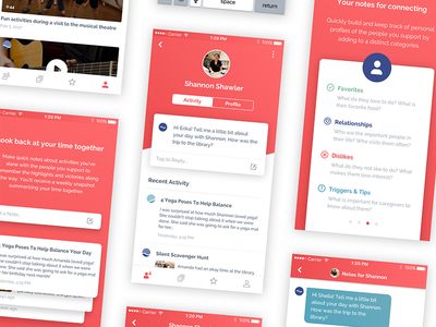 Quillo Mobile App video player list onboarding ios app video chat profile ux mobile