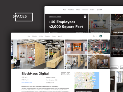 Spaces indianapolis voting collection profile web ui ux map space office offices spaces