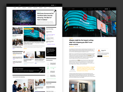 TechPoint Index techpoint indiana blog layout news layout blog design story stories platform content news blog web ui indianapolis ux