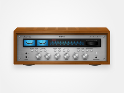 Audio Receiver vintage skeumorphism sketch receiver audio stereo vulf vulfpeck realism indiana indianapolis