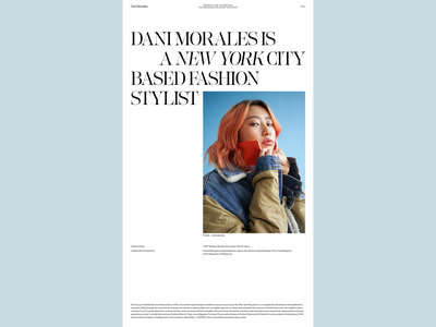 Dani Morales N°004 typography interaction motion minimal art direction ui animation website webdesign design