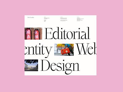 WIP 001 design typography minimal art direction website webdesign graphic design ui