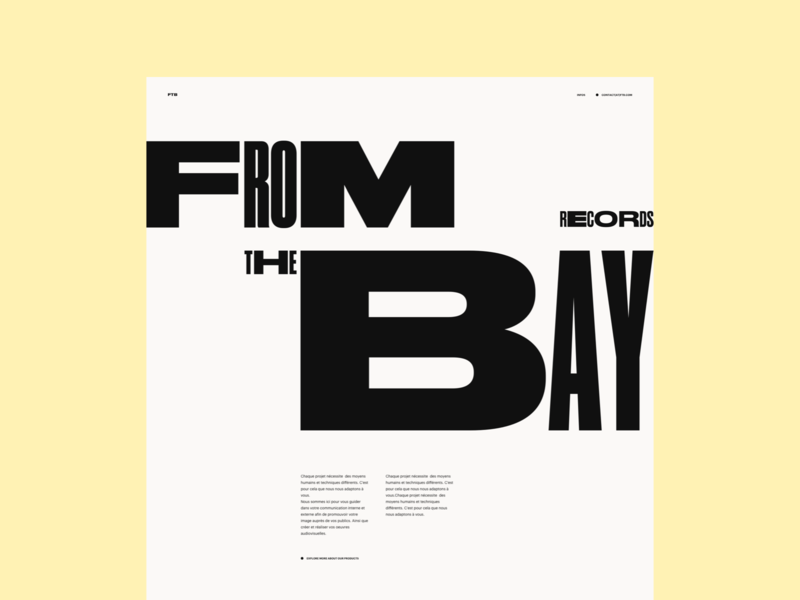 Website   Weight Font Exploration