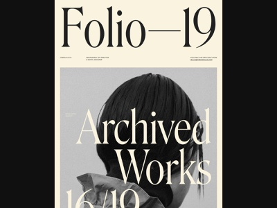 Folio — 19 animation identity minimal typography ui 2019 portfolio site portfolio art direction website webdesign design
