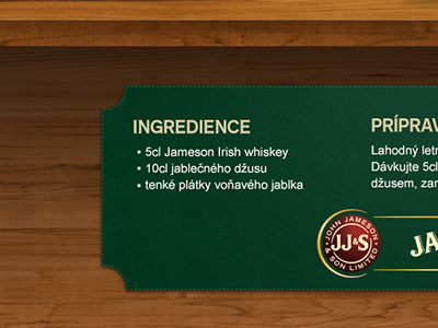 Jameson - ingredients green wood ingredients pkart czech