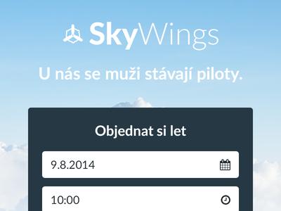 Skywings clouds pkart blue clean identity plane fly czech