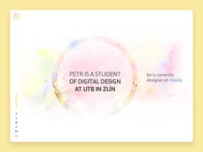 PK Art 2015 student nav clean colors pkart portfolio czech