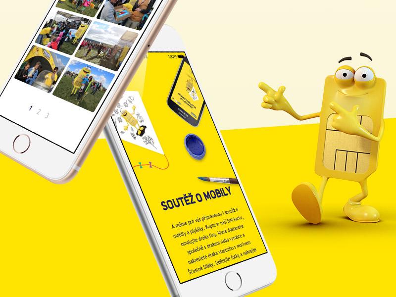 SAZKAmobil Fly a kite contest telecommunication sazkamobil sazka responsive diagonal iphone yellow