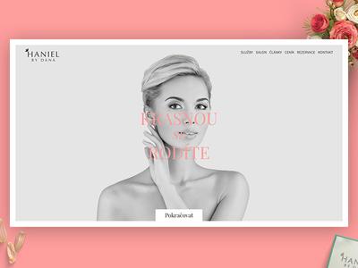 Haniel – Designed for Beauty flowers web clean grey woman pink czech salon beauty haniel