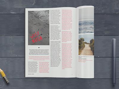 Magazine discover desaturated billingual magazine typography typo offline czech red
