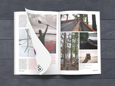Magazine magazine typo offline desaturated billingual typography red czech