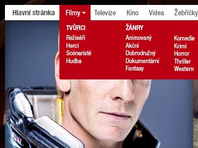 CSFD.cz menu csfd movie czech pkart red redesign freetime