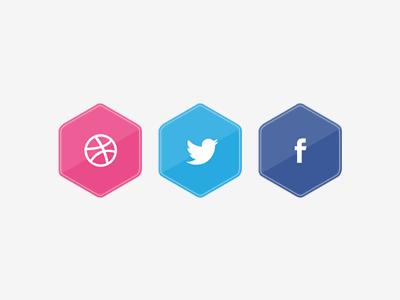 Social sites czech pkart minimalism badge hexagon sites social