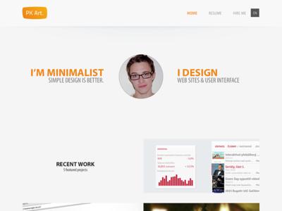PKART redesign pkart czech minimalist clean orange redesign homepage round portfolio