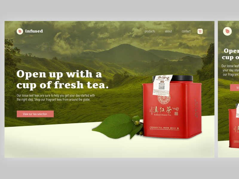 Infused Landing Page daily ui challenge