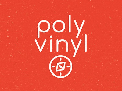 Polyvinyl Rebranding red record poly vinyl triangle geometric compass illustrator vector drawing illustration design art
