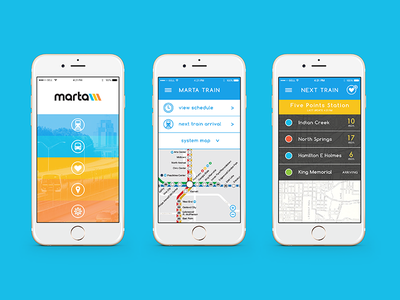 MARTA app redesign metro train ui web app design app atlanta marta design art