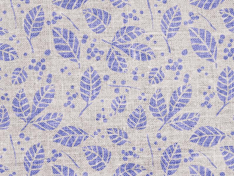 Burlap Leaf Pattern surface pattern blue natural burlap texture floral leaf repeating pattern