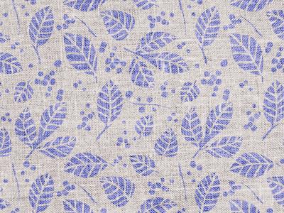 Burlap Leaf Pattern