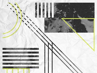 Dagger Poster miminal shapes geometric design vector graphic design texture illustration