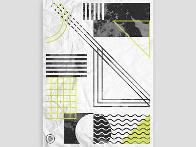 Dagger Poster minimal geometric shapes geometric graphic design texture illustrator design illustration