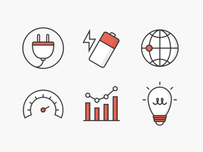 Beep Icons color line icons shading beep beep networks light bulb data plug battery accelerometer world